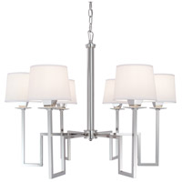 Maya 6 Light 30 inch Polished Nickel Chandelier Ceiling Light, 6 Arm