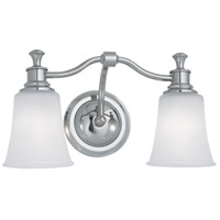 Norwell 9722-CH-FR Sienna 2 Light 17 inch Chrome Wall Sconce Wall Light
