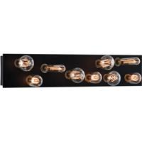 Norwell 9745-MB-NG Hollywood 9 Light 24 inch Matte Black Bath Bar Wall Light