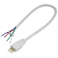 Nora Lighting NAL-810/12W Silk LED 12 inch White SBC Power Line Cable Open Undercabinet