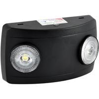 Nora Lighting NE-602LEDB Aaliyah 1 Light Black Exit / Emergency Ceiling Light