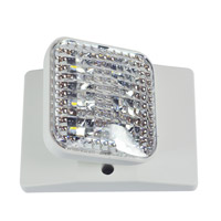Nora Lighting NE-871LEDW Aaliyah 1 Light White Exit / Emergency Ceiling Light