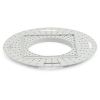 Nora Lighting NIO-FMMR-2S Iolite White Flush Mount Mud Ring