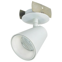 Nora Lighting NIOP-1RTC27XMPW iPOINT 1 Light 3 inch Matte Powder White Monopoint Luminaire Ceiling Light, Round Cone