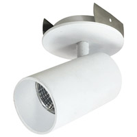 Nora Lighting NIOP-2RCY27XMPW iPOINT 1 Light 3 inch Matte Powder White Monopoint Luminaire Ceiling Light Round Cylinder