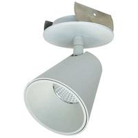 Nora Lighting NIOP-2RTC27XMPW iPOINT 1 Light 3 inch Matte Powder White Monopoint Luminaire Ceiling Light, Round Cone