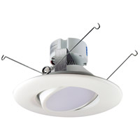 Nora Lighting NOX-563427WW Onyx White Recessed Reflector Retro Style