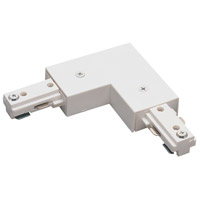 Nora Lighting NT-313W Signature 1 Light White Track L-Connector Ceiling Light