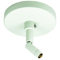 Nora Lighting NT-349W 1-circuit 1 Light White Track Sloped Ceiling Adapter Ceiling Light