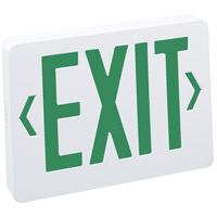 Nora Lighting NX-503-LED/G Aaliyah 1 Light Green Letters and White Housing Exit / Emergency Ceiling Light