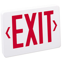 Nora Lighting NX-503-LED/R Aaliyah 1 Light Red Letters and White Housing Exit / Emergency Ceiling Light