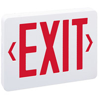 Nora Lighting NX-504-LED/R Aaliyah 1 Light Red Letters and White Housing Exit / Emergency Ceiling Light