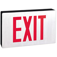Nora Lighting NX-505-LED/R/2F Aaliyah 1 Light Red Letters and Black Housing Exit / Emergency Ceiling Light