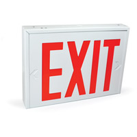 Nora Lighting NX-550-LEDU/R NY Approved 1 Light Red Letters and White Housing Exit / Emergency Ceiling Light in White / Red