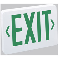 Nora Lighting NX-603-LED/G Aaliyah 1 Light Green Letters and White Housing Exit / Emergency Ceiling Light