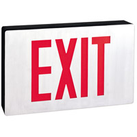 Nora Lighting NX-605-LED/R Aaliyah 1 Light Red Letters and Black Housing Exit / Emergency Ceiling Light