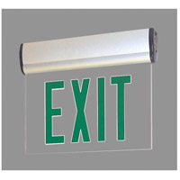 Nora Lighting NX-810-LEDG2MA Aaliyah 1 Light Green Letters and Aluminum Housing Exit / Emergency Ceiling Light