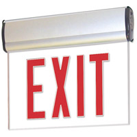 Nora Lighting NX-811-LEDR2MA Aaliyah 1 Light Red Letters and Aluminum Housing Exit / Emergency Ceiling Light