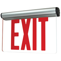 Nora Lighting NX-822-LEDR1CA Aaliyah 1 Light Red Letters and Aluminum Housing Exit / Emergency Ceiling Light