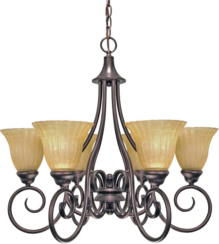 Nuvo Lighting Moulan 6 Light Chandelier in Copper Bronze 60/010 photo