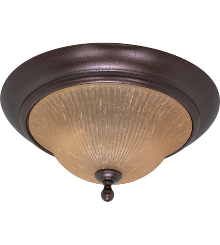 Nuvo 60/011 Moulan 2 Light 16 inch Copper Bronze Flushmount Ceiling Light photo
