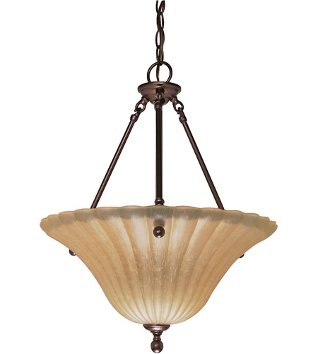 Nuvo 60/013 Moulan 3 Light 16 inch Copper Bronze Pendant Ceiling Light photo