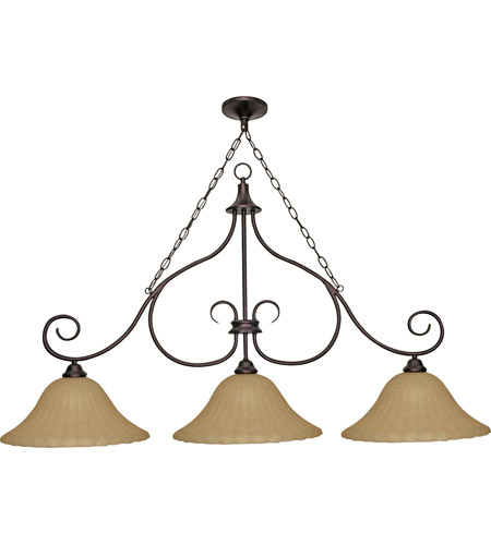Nuvo Lighting Moulan 3 Light Chandelier in Copper Bronze 60/020 photo