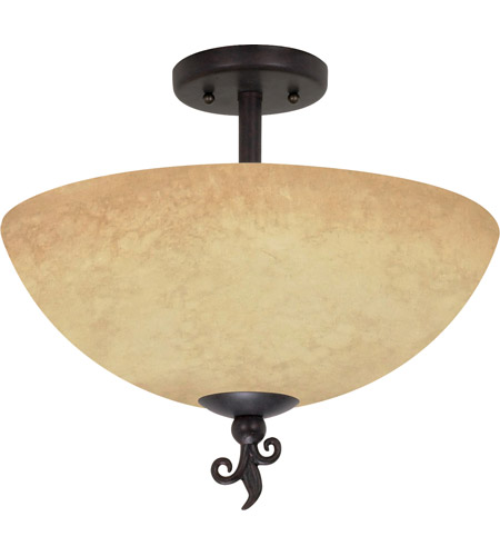 Nuvo 60042 tapas 3 light 16 inch old bronze semi flush ceiling light aloadofball Choice Image