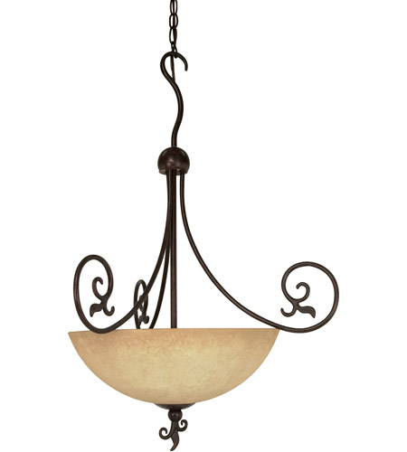 Nuvo Lighting Tapas 3 Light Pendant in Old Bronze 60/050 photo
