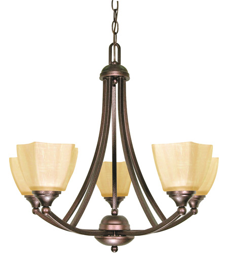Nuvo 60/055 Normandy 5 Light 25 inch Copper Bronze Chandelier Ceiling Light photo