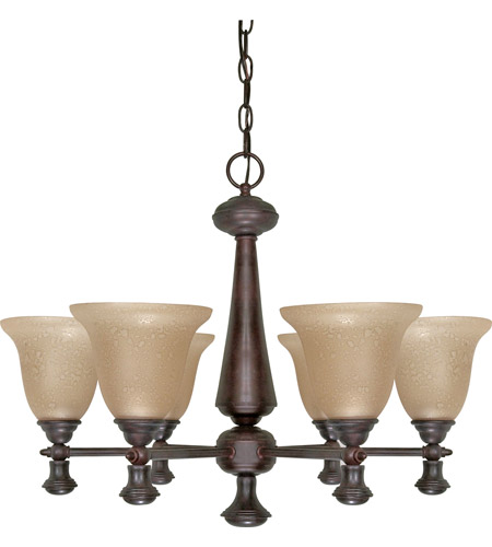 Nuvo 60/100 Mericana 6 Light 25 inch Old Bronze Chandelier Ceiling Light photo