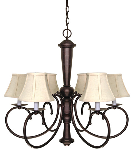 Nuvo 60/101 Mericana 6 Light 27 inch Old Bronze Chandelier Ceiling Light photo
