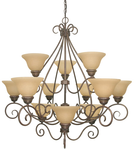 Nuvo Lighting Castillo 12 Light Chandelier in Sonoma Bronze 60/1033 photo