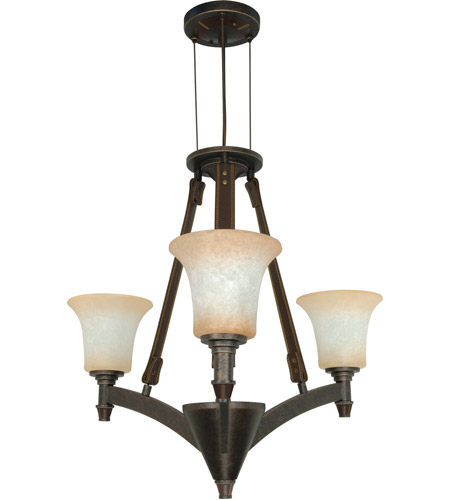 Nuvo Lighting Viceroy 3 Light Chandelier in Golden Umber 60/1042 photo