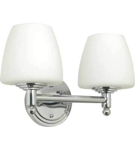 Nuvo Lighting Galileo 2 Light Vanity & Wall in Polished Chrome 60/1084 photo