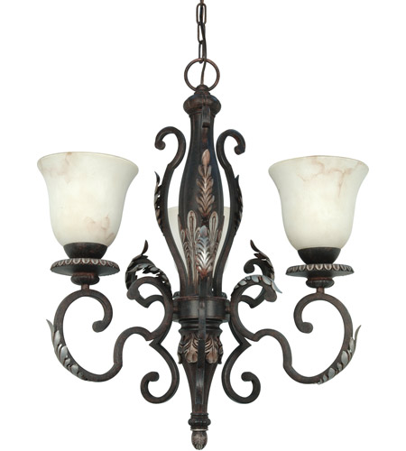Nuvo Lighting Cipriani 3 Light Chandelier in Garnet Bronze 60/1165 photo