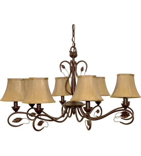 Nuvo Lighting Vine 8 Light Chandelier in Sonoma Bronze 60/1169 photo