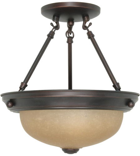 Nuvo Lighting Signature 2 Light Semi-Flush in Mahogany Bronze 60/1258 photo