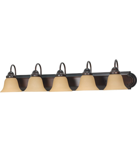 Nuvo 60/1267 Ballerina 5 Light 36 inch Mahogany Bronze Vanity & Wall Wall Light photo