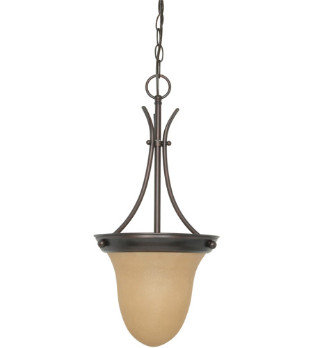 Nuvo 60/1278 Signature 1 Light 10 inch Mahogany Bronze Pendant Ceiling Light photo