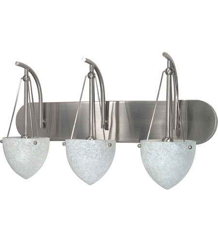 Nuvo Lighting South Beach 3 Light Vanity & Wall in Brushed Nickel 60/136