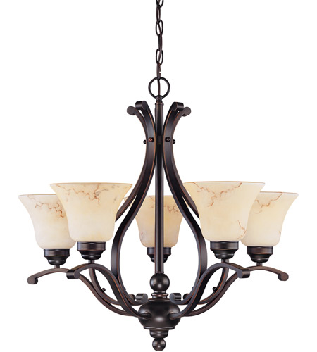 Nuvo Copper Espresso Metal Chandeliers