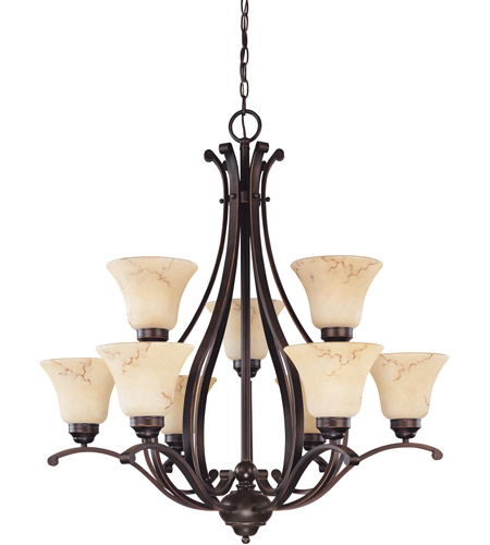 Nuvo Lighting Anastasia 9 Light Chandelier in Copper Espresso 60/1403 photo