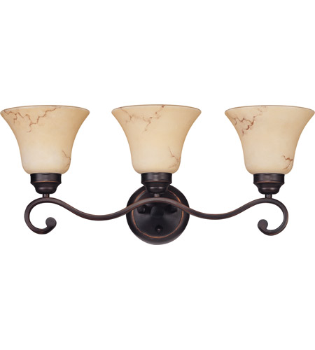 Nuvo 60/1414 Anastasia 3 Light 23 inch Copper Espresso Vanity & Wall Wall Light  photo