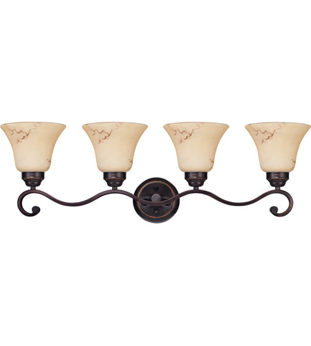 Nuvo Lighting Anastasia 4 Light Vanity & Wall in Copper Espresso 60/1415 photo