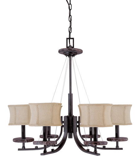 Nuvo Lighting Madison 6 Light Chandelier in Ledgestone 60/1442 photo