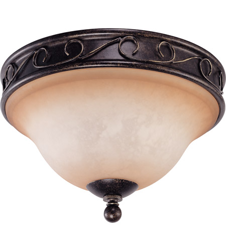 Nuvo Lighting Windermere 2 Light Flushmount in Golden Umber 60/1505 photo