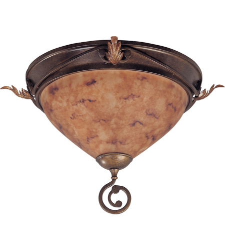 Nuvo Lighting Marmount 2 Light Flushmount in Antique Gold 60/1523 photo
