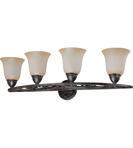 Nuvo Lighting Pickford 4 Light Vanity & Wall in Distressed Bronze 60/1573 photo