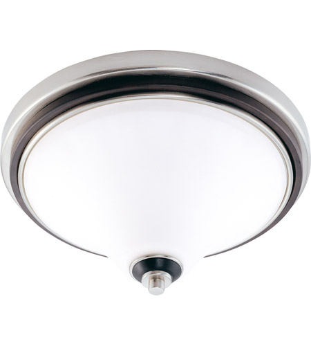 Nuvo Lighting Keen 3 Light Flushmount in Nickel & Black 60/1746 photo